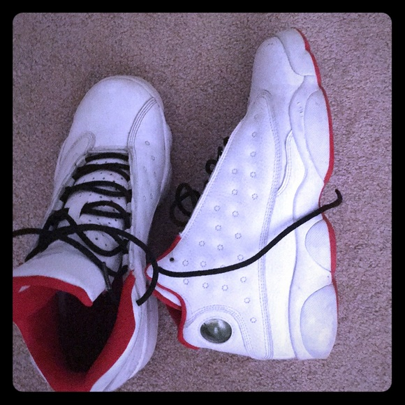 the latest d6d1f bd69a Retro 13s white and red 2017